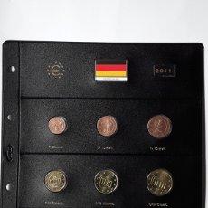 Euros: SERIE COMPLETA EUROS ALEMANIA 2011 CECA J. SIN CIRCULAR EN HOJA PARDO. Lote 229063835