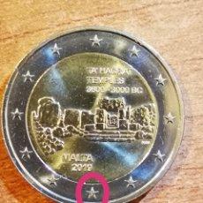 Euros: MALTA 2019 2 EURO CONMEMORATIVOS TEMPLO DE TA HAGRAT, CON LA F EN LA ESTRELLA (5). Lote 229116275
