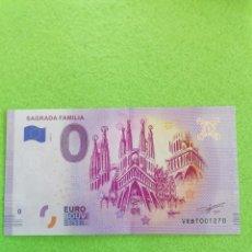 Euros: BILLETE DE LA SAGRADA FAMILIA. PRECIOSO PARA TENERLO EN CUALQUIER COLECCIÓN. SIN CIRCULAR. Lote 229327580