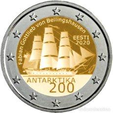Euros: 2 EUROS ESTONIA 200 ANIVERSARIO DEL DESCUBRIMIENTO DE LA ANTÁRTIDA. Lote 294451393
