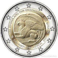 Euros: GRECIA 2 EUROS 2020 100 AÑOS DE LA INCORPORACIÓN DE TRACIA A GRECIA. Lote 229664560