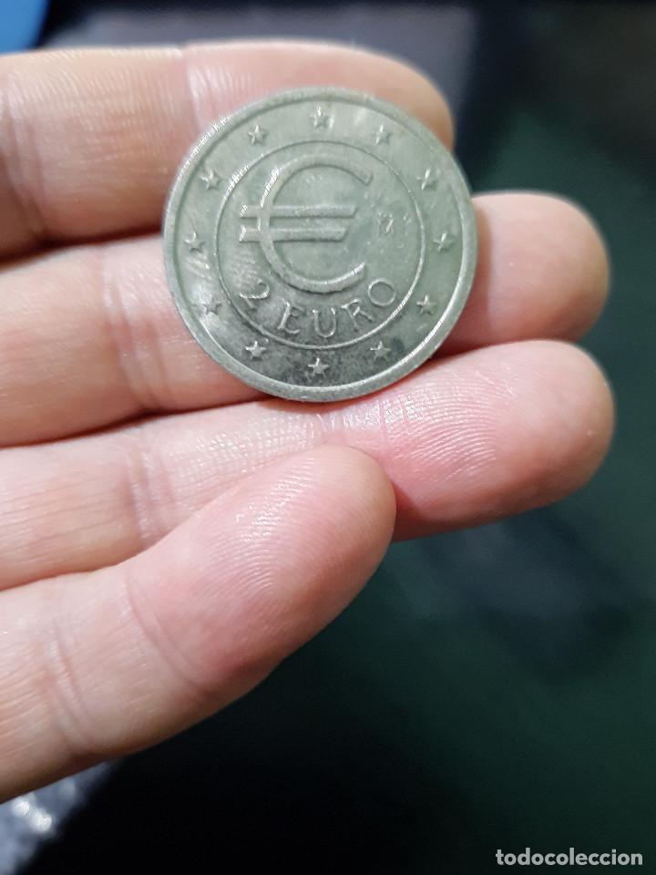 Euros: MONEDA DE EUROS EN PRUEBA.DE 2 EUROS DE CHURRIANA (MALAGA) DEL AÑO 1998. - Foto 2 - 231654510