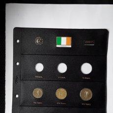 Euros: SERIE EUROS IRLANDA 2007 EN HOJA PARDO. Lote 232376940