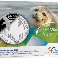 Euros: HOLANDA, 5 EUROS 2016 COINCARD. EL MAR DE WADDEN. Lote 232446485