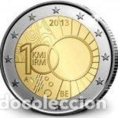 Euros: BELGICA 2013. 2 EUROS. 100 AÑOS DEL REAL INSTITUTO DE METEREOLOGÍA DE BÉLGICA. S/C. Lote 279373248