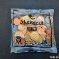 Euros: MONEDERO EUROS DE ESPAÑA.43 MONEDAS.12,02 EUROS.NUEVO SIN ABRIR.. Lote 233004435