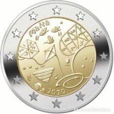 Euros: MALTA 2 EUROS 2020 LOS NIÑOS Y LA SOLIDARIDAD - JUEGOS. Lote 233404580