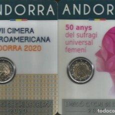 Euros: ANDORRA 2020 - LAS 2 MONEDAS CONMEMORATIVAS. Lote 233450600