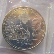 Euros: FELIPE II . 2000 PESETAS DE PLATA DE 1998 . PERFECTA . EN BOLSITA ORIGINAL DE LA F.N.M.T.. Lote 233795330