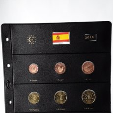 Euros: SERIE COMPLETA EUROS ESPAÑA 2016 SIN CIRCULAR EN HOJA PARDO (9 MONEDAS). Lote 234341345