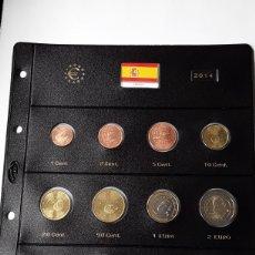 Euros: SERIE COMPLETA EUROS ESPAÑA 2014 SIN CIRCULAR EN HOJA PARDO (10 MONEDAS). Lote 234342015