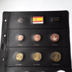 Euros: SERIE COMPLETA EUROS ESPAÑA 2009 SIN CIRCULAR EN HOJA PARDO (9 MONEDAS). Lote 235157220