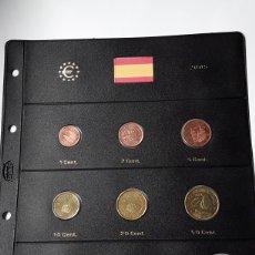 Euros: SERIE COMPLETA EUROS ESPAÑA 2005 SIN CIRCULAR EN HOJA PARDO (9 MONEDAS). Lote 235158635