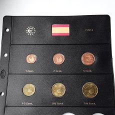 Euros: SERIE COMPLETA EUROS ESPAÑA 2004 SIN CIRCULAR EN HOJA PARDO (8 MONEDAS). Lote 235158930