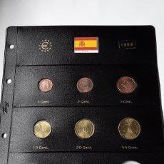 Euros: SERIE COMPLETA EUROS ESPAÑA 1999 SIN CIRCULAR EN HOJA PARDO (8 MONEDAS). Lote 235159780