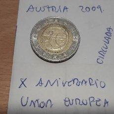 Euros: 10-00584 - AUSTRIA -2 € -2009 - X ANIVERSARIO EU. Lote 236786585