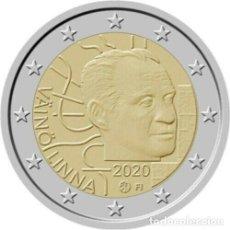 Euros: FINLANDIA 2 EUROS 2020 CENTENARIO DEL NACIMIENTO DE VAINO LINNA. Lote 238326390