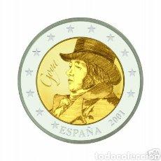 Euros: MUY RARA MONEDA 2 EUROS ESPAÑA 2001, FRANCISCO DE GOYA. Lote 240823600
