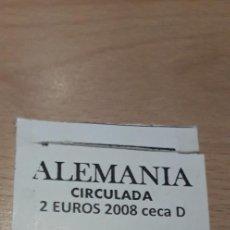 Euros: 10-00347-ALEMANIA- 2 € -2008 D- HAMBURGO. Lote 243067595