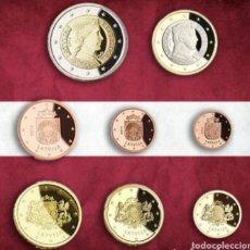 Euros: SERIE/ TIRA LETONIA 8 VALORES 2014 S/C. Lote 243201045