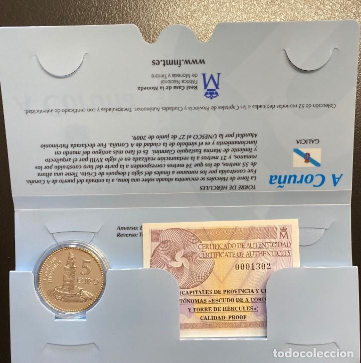 MONEDAS DE COLECCIÓN,PROVINCIAS DE ESPAÑA, 5 EUROS A CORUÑA (Numismática - España Modernas y Contemporáneas - Ecus y Euros)