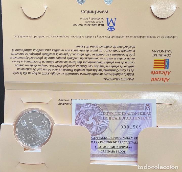 MONEDAS DE COLECCIÓN,PROVINCIAS DE ESPAÑA, 5 EUROS ALICANTE (Numismática - España Modernas y Contemporáneas - Ecus y Euros)
