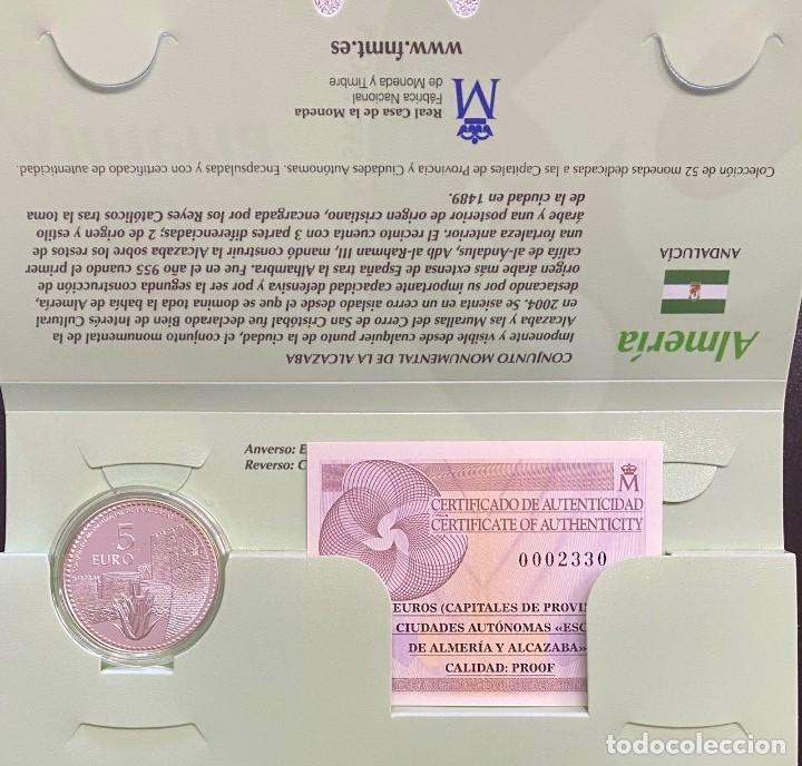 MONEDAS DE COLECCIÓN,PROVINCIAS DE ESPAÑA, 5 EUROS ALMERIA (Numismática - España Modernas y Contemporáneas - Ecus y Euros)
