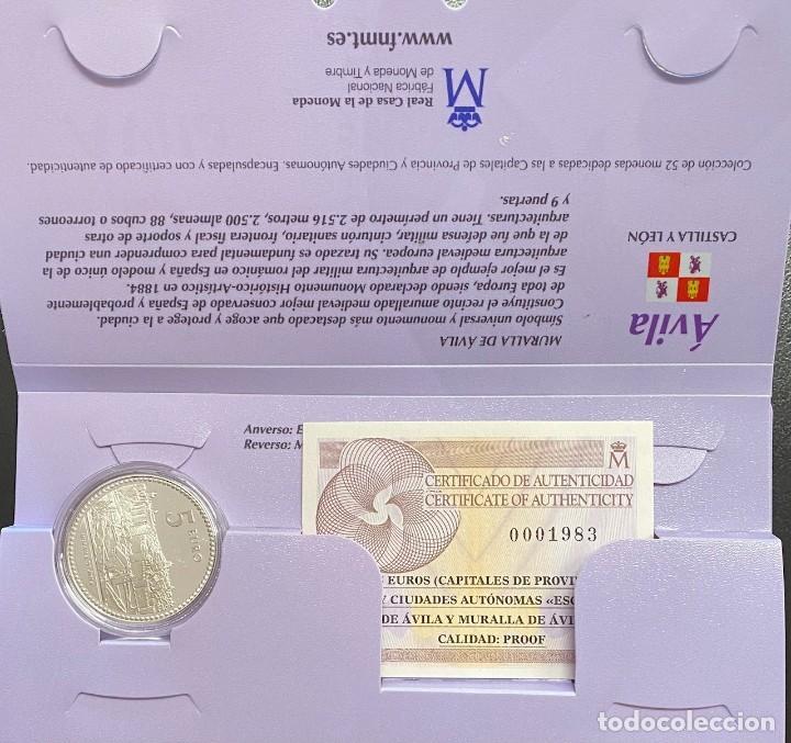 MONEDAS DE COLECCIÓN,PROVINCIAS DE ESPAÑA, 5 EUROS AVILA (Numismática - España Modernas y Contemporáneas - Ecus y Euros)