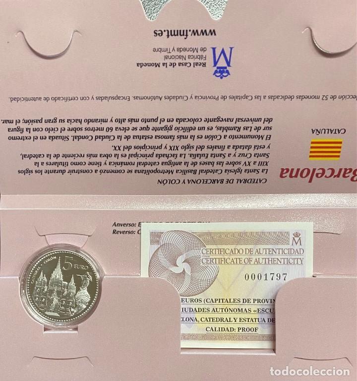 MONEDAS DE COLECCIÓN,PROVINCIAS DE ESPAÑA, 5 EUROS BARCELONA (Numismática - España Modernas y Contemporáneas - Ecus y Euros)