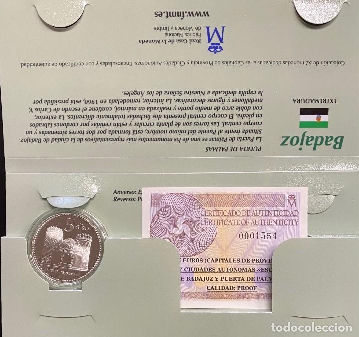 MONEDAS DE COLECCIÓN,PROVINCIAS DE ESPAÑA, 5 EUROS BADAJOZ (Numismática - España Modernas y Contemporáneas - Ecus y Euros)