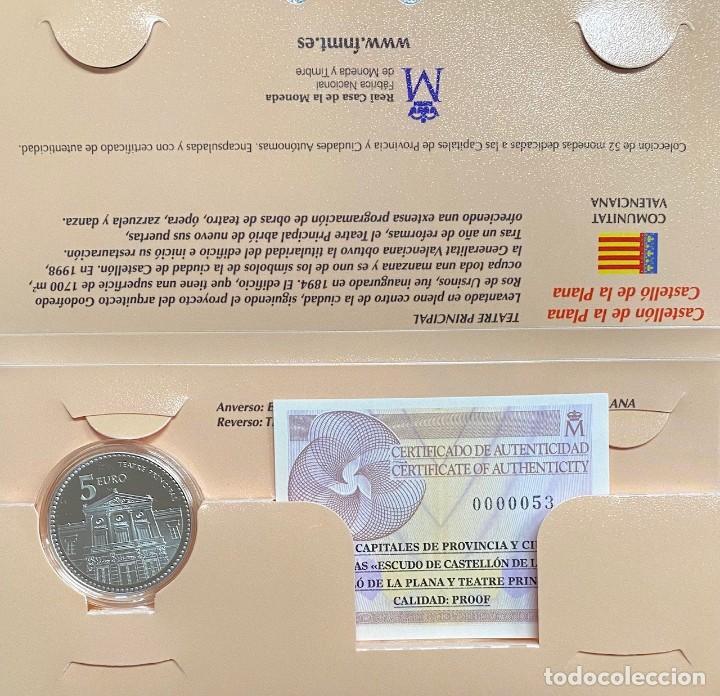 MONEDAS DE COLECCIÓN,PROVINCIAS DE ESPAÑA, 5 EUROS CASTELLÓN (Numismática - España Modernas y Contemporáneas - Ecus y Euros)