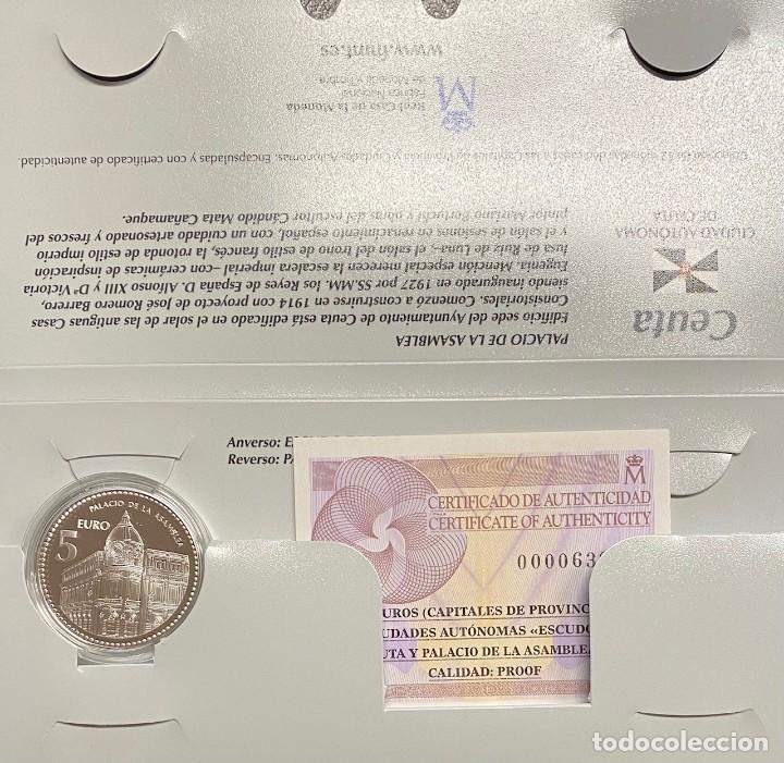 MONEDAS DE COLECCIÓN,PROVINCIAS DE ESPAÑA, 5 EUROS CEUTA (Numismática - España Modernas y Contemporáneas - Ecus y Euros)