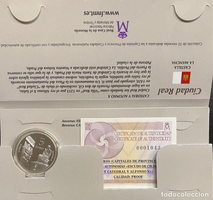 MONEDAS DE COLECCIÓN,PROVINCIAS DE ESPAÑA, 5 EUROS CIUDAD REAL (Numismática - España Modernas y Contemporáneas - Ecus y Euros)