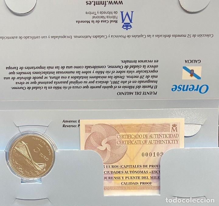 MONEDAS DE COLECCIÓN,PROVINCIAS DE ESPAÑA, 5 EUROS ORENSE (Numismática - España Modernas y Contemporáneas - Ecus y Euros)