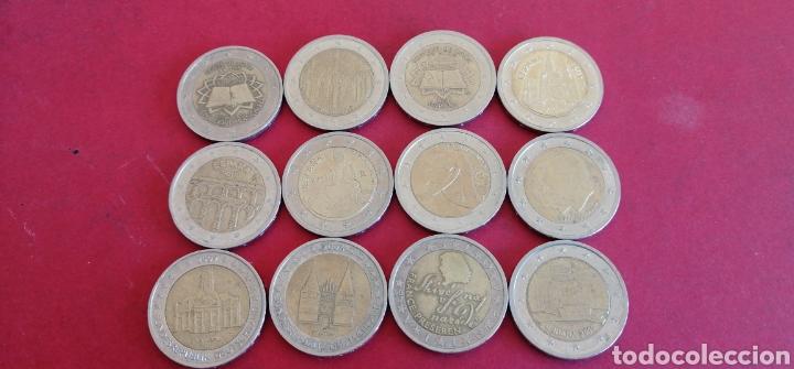 LOTE DE 12 MONEDAS DE 2 EUROS. CONMEMORATIVAS (Numismática - España Modernas y Contemporáneas - Ecus y Euros)