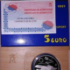 Euros: ESPAÑA 5 EURO PLATA 1997 NIEUPORT - AVIACIÓN ESPAÑOLA - 1 ONZA PLATA PURA. Lote 269203778