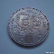 Euros: 12 EUROS PLATA 2004 JUAN CARLOS I Y SOFÍA. FELIPE Y LETIZIA 22-V-2004. Lote 243863885