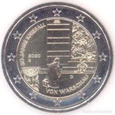 Euros: MONEDA 2 EUROS ALEMANIA 2020 CECA F - 50 ANIV. GENUFLEXION EN VARSOVIA - SIN CIRCULAR. Lote 244629315