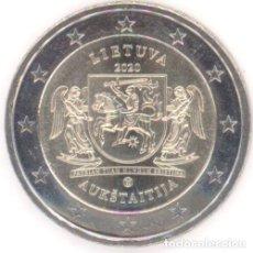 Euros: MONEDA 2 EUROS LITUANIA 2020 - REGION DE AUKSTAITIJA - SIN CIRCULAR. Lote 244864120