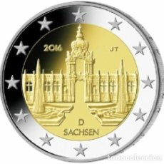 Euros: MONEDA 2 EUROS ALEMANIA 2016 - CECA G - SACHSEN - SIN CIRCULAR. Lote 246505890