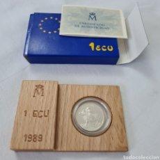 Euros: 1 ECU ESPAÑA 1989 DE PLATA SIN CIRCULAR. Lote 246532040