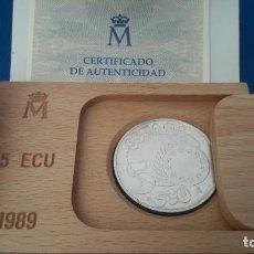 Euros: 5 ECUS DE ESPAÑA 1989 (CON ESTUCHE). Lote 246649200