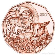 Euros: MONEDA 5 EUROS AUSTRIA 2017 - CORDERO PASCUAL - EN COBRE. Lote 294383918