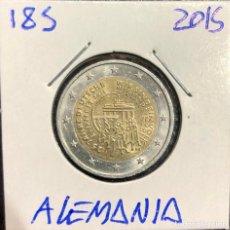 Euro: 185 ALEMANIA MONEDA 2 EUROS CONMEMORATIVA 25 AÑOS UNIFICACIÓN ALEMANA. Lote 250179910