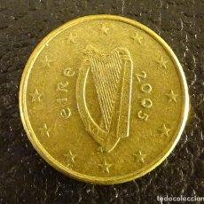 Euro: IRLANDA 50 CÉNTIMOS DE EURO 2005. Lote 251133165