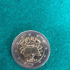 Euros: MONEDA 2 EUROS ESPAÑA 2007 - TRATADO DE ROMA - SIN CIRCULAR. Lote 251419780