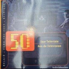 Euro: BÉLGICA 2003 CARTERA ANUAL FDC + MEDALLA. 50 AÑOS TELEVISIÓN. Lote 252036405