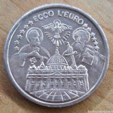 Euros: MONEDA CIUDAD DEL VATICANO JOANNES PAVLVS II ECCO L'EURO 2000. Lote 252112875
