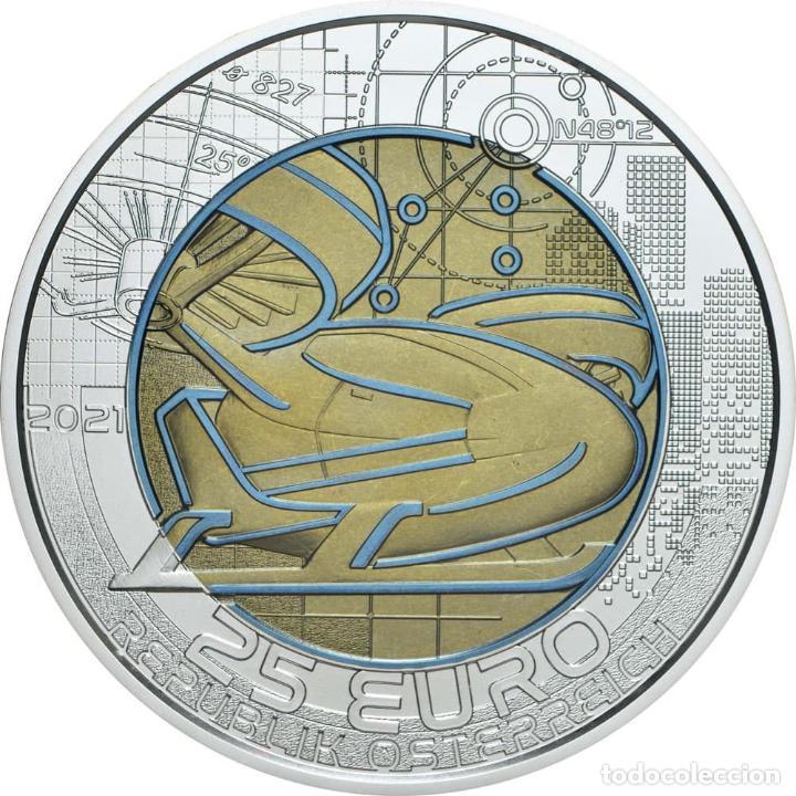 Euros: AUSTRIA 2021. MONEDA DE 25 EUROS DE NIOBIO. SMART MOBILITY. CON CAPSULA, CAJA Y CERTFICADO - Foto 2 - 252414800