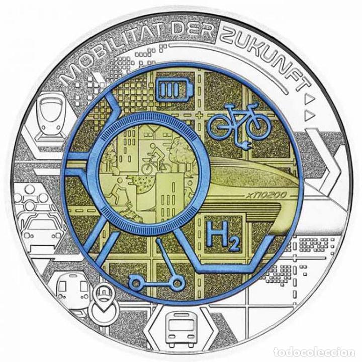 AUSTRIA 2021. MONEDA DE 25 EUROS DE NIOBIO. SMART MOBILITY. CON CAPSULA, CAJA Y CERTFICADO (Numismática - España Modernas y Contemporáneas - Ecus y Euros)